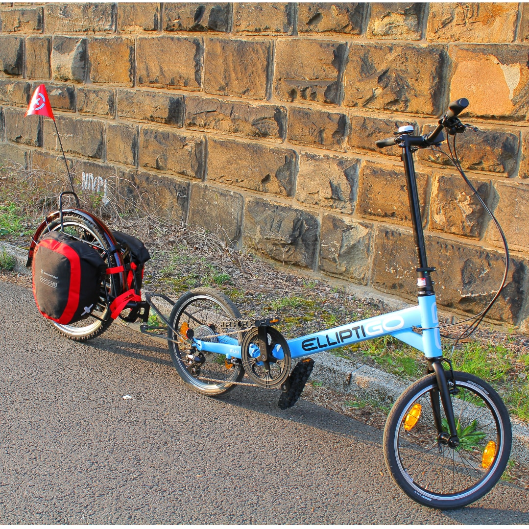 ElliptiGO mit Extrawheel Fahrradanhänger